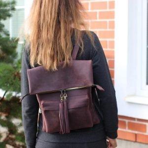 Удобный фиолетовый рюкзак BNZ-1605 219453