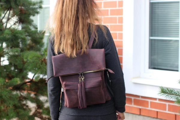 Функциональный фиолетовый рюкзак BNZ-1605