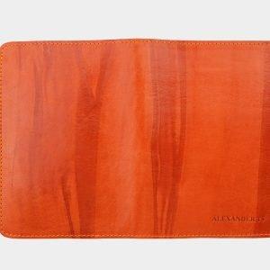 Стильная оранжевая обложка для паспорта ATS-1461
