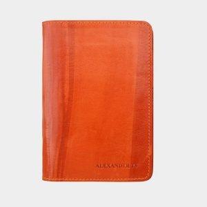 Кожаная оранжевая обложка для паспорта ATS-1461