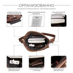 Функциональная темно-оранжевая мужская сумка трансформер через плечо BRL-28435 222350