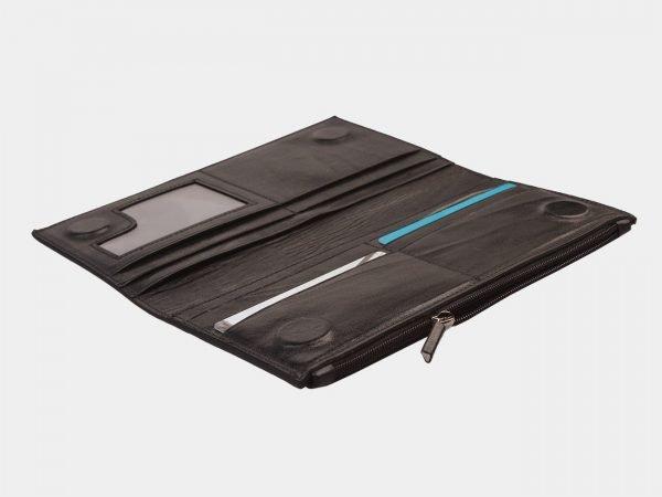 Солидный черный портмоне ATS-1245