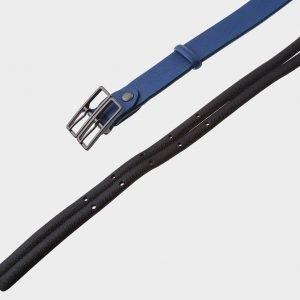 Кожаный синий женский модельный ремень ATS-396 217337