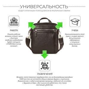 Неповторимая коричневая мужская сумка через плечо BRL-33398 223009
