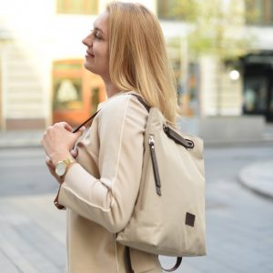 Стильная бежевая женская сумка FBR-2669 219090