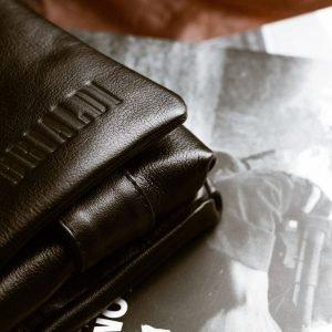 Удобная черная мужская сумка через плечо BRL-207 219859