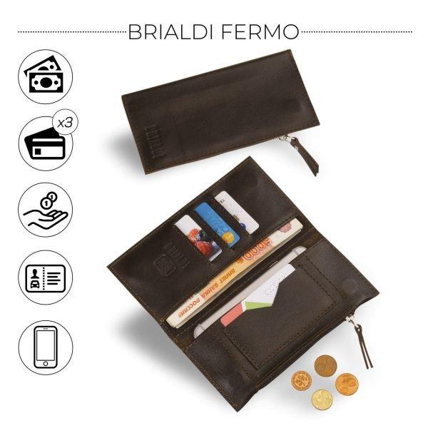 Стильный коричневый мужской портмоне клатч BRL-8451