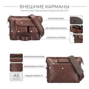 Неповторимая темно-оранжевая мужская сумка трансформер через плечо BRL-28406 222285