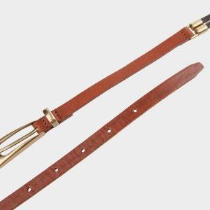 Неповторимый светло-коричневый женский модельный ремень ATS-626 217258
