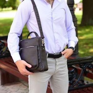 Стильная коричневая мужская сумка через плечо BRL-33395 222970