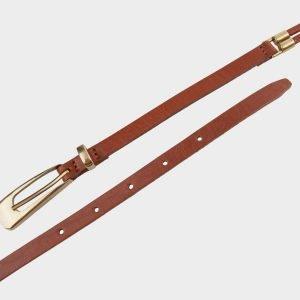 Неповторимый светло-коричневый женский модельный ремень ATS-627 217254