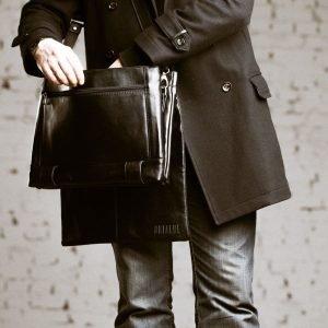 Удобная черная мужская сумка через плечо BRL-207 219862
