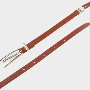 Деловой светло-коричневый женский модельный ремень ATS-655 217243