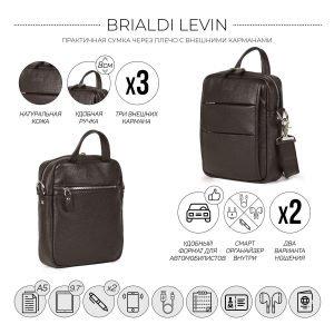 Модная коричневая мужская сумка через плечо BRL-34408 223389