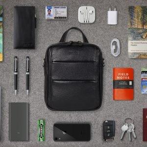Функциональная черная мужская сумка через плечо BRL-34406 223377