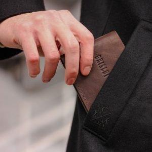 Модная коричневая мужская кожгалантерея BRL-9518 220746