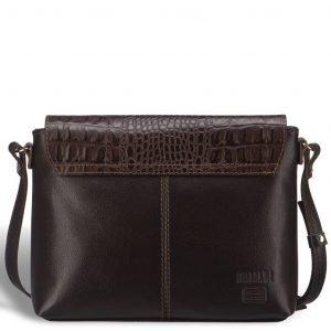 Удобная коричневая женская сумка через плечо BRL-15209