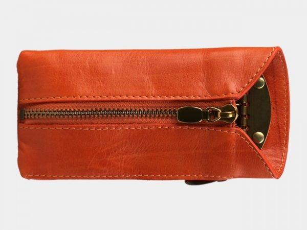 Кожаная оранжевая ключница ATS-3144