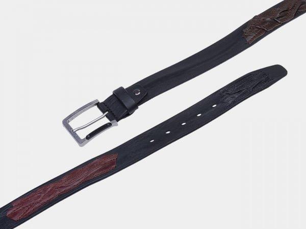 Неповторимый черный мужской джинсовый ремень ATS-1819