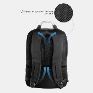 Модный черный рюкзак из пвх ATS-3821 211041