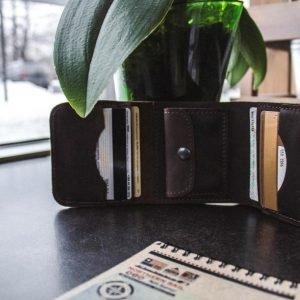 Солидный коричневый кошелек BNZ-1539