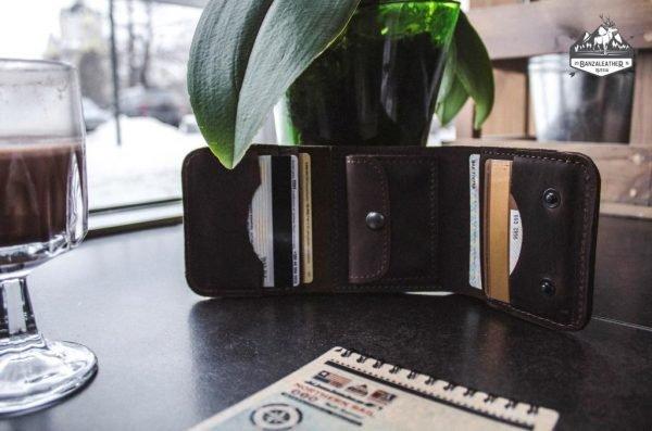 Деловой коричневый кошелек BNZ-1539