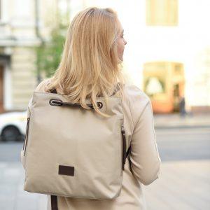 Стильная бежевая женская сумка FBR-2669 219091