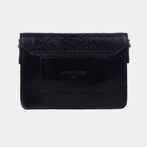Кожаная синяя женская сумка на пояс ATS-3115 213470