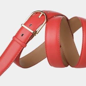 Кожаный розово-оранжевый женский модельный ремень ATS-987 217065