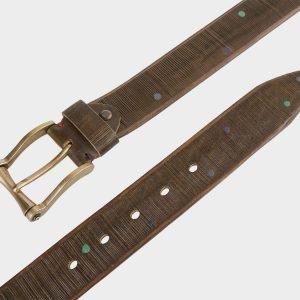 Уникальный желтовато-зелёный мужской джинсовый ремень ATS-672 217231