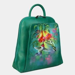 Уникальный зеленый рюкзак с росписью ATS-3088 213554
