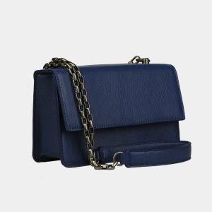 Солидный синий женский клатч ATS-3070 213592
