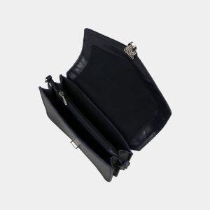 Кожаная синяя женская сумка на пояс ATS-3115 213471