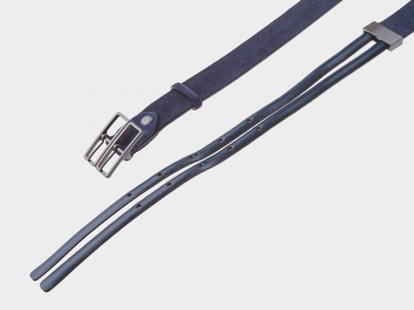 Уникальный синий женский модельный ремень ATS-404