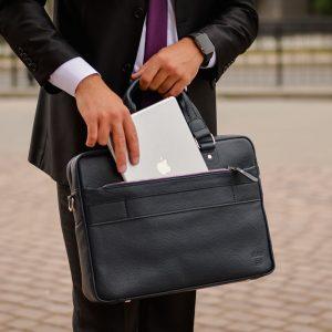 Функциональный синий мужской портфель деловой BRL-34108 223189