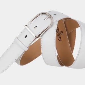 Уникальный белый женский модельный ремень ATS-992 217049