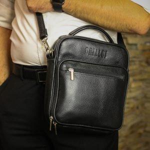 Модная черная мужская сумка через плечо BRL-12934