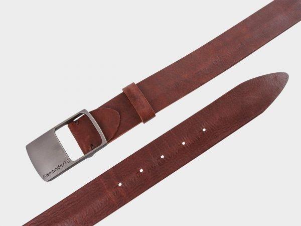 Солидный светло-коричневый мужской джинсовый ремень ATS-681