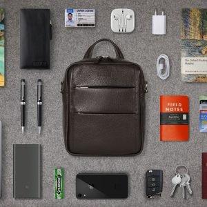 Модная коричневая мужская сумка через плечо BRL-34408 223400
