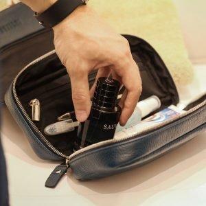 Деловой синий мужской портмоне клатч BRL-23316