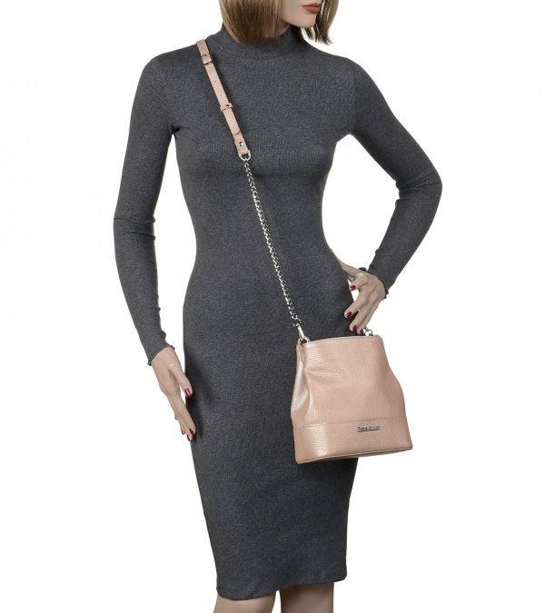 Солидная бежевая женская сумка FBR-2052