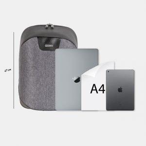 Уникальный черный рюкзак из пвх ATS-3819 211053
