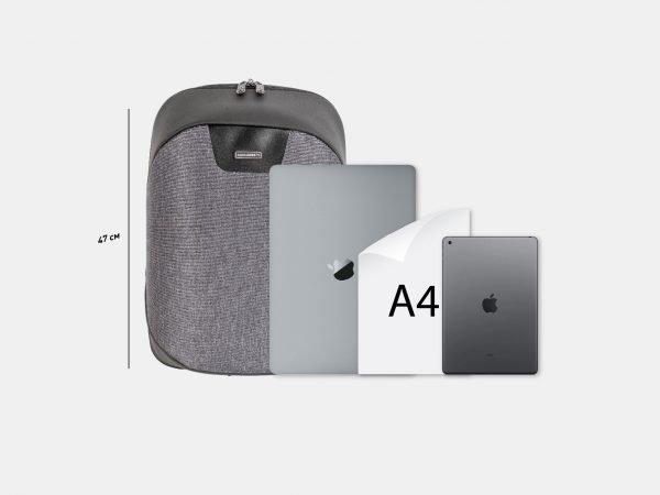 Функциональный черный рюкзак из пвх ATS-3819