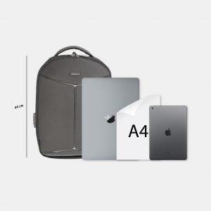 Модный черный рюкзак из пвх ATS-3822 211030