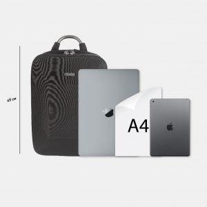 Неповторимый черный рюкзак из пвх ATS-3817