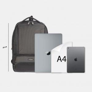 Солидный черный рюкзак из пвх ATS-3816