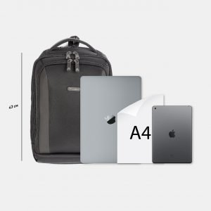Модный черный рюкзак из пвх ATS-3814 211089
