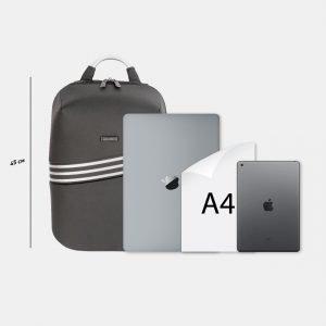 Солидный черный рюкзак из пвх ATS-3813