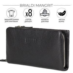 Модный черный мужской портмоне BRL-44377