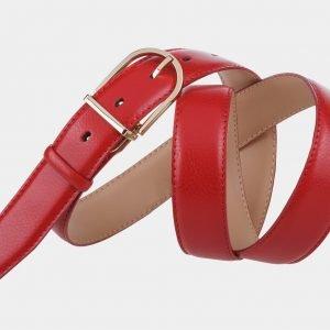 Уникальный красный женский модельный ремень ATS-999 217041
